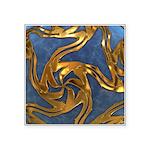Faberge's Jewels - Blue Square Sticker 3