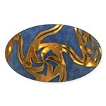 Faberge's Jewels - Blue Sticker (Oval 50 pk)