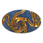 Faberge's Jewels - Blue Sticker (Oval 10 pk)