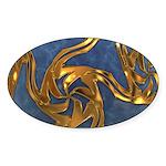 Faberge's Jewels - Blue Sticker (Oval)