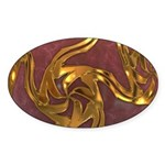 Faberge's Jewels -Red Sticker (Oval 10 pk)