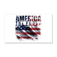 America Proud Car Magnet 20 x 12
