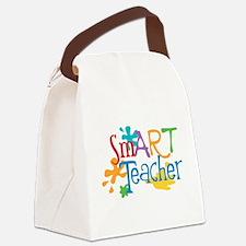 SmART Art Teacher Canvas Lunch Bag