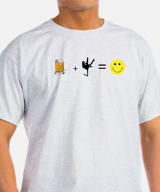 Beer + Stripper = Happy T-Shirt