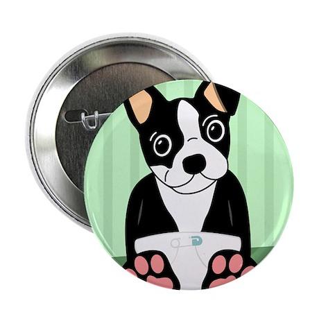 Boston Terrier Diaper Puppy Button