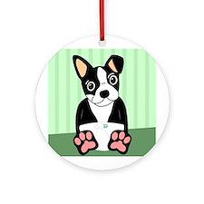 Boston Terrier Diaper Puppy Ornament