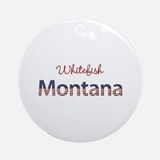 Custom Montana Ornament (Round)