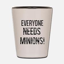 Vintage Everyone Needs Minions Shot Glass