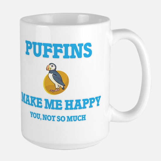 Puffins Make Me Happy Mugs