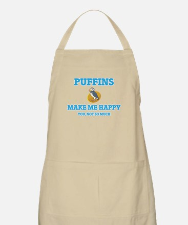 Puffins Make Me Happy Light Apron