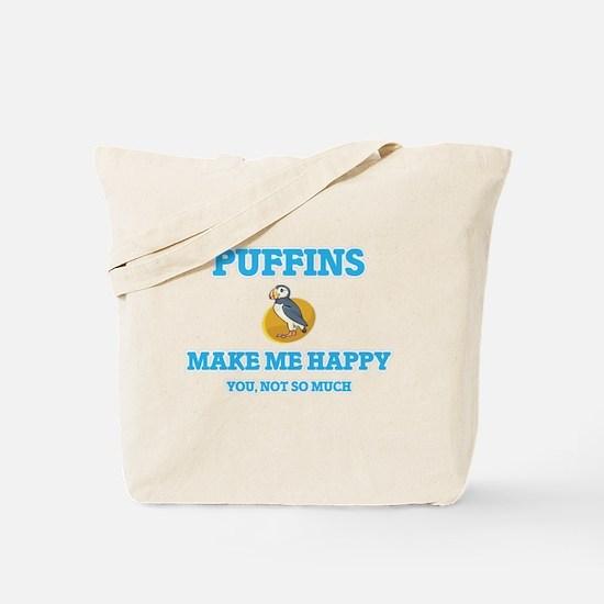 Puffins Make Me Happy Tote Bag