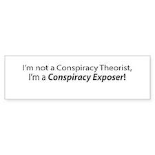 Conspiracy Theorist Bumper Bumper Sticker