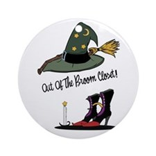 Out of the Broom Closet Ornament (Round)