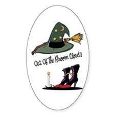 Out of the Broom Closet Oval Decal