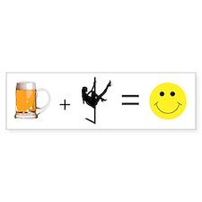 Beer + Stripper = Happy Bumper Bumper Sticker