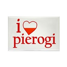 I Love Pierogi Rectangle Magnet
