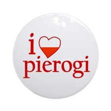 I Love Pierogi Ornament (Round)