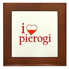 I Love Pierogi Framed Tile