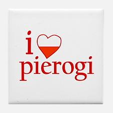 I Love Pierogi Tile Coaster