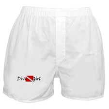 dive girl logo 1 black.psd Boxer Shorts