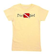 dive girl logo 1 black.psd Girl's Tee