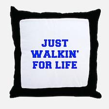 JUST-WALKIN-FOR-LIFE-FRESH-BLUE Throw Pillow