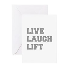 LIVE-LAUGH-LIFT-FRESH-GRAY Greeting Cards