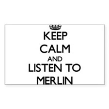 Keep Calm and Listen to Merlin Decal
