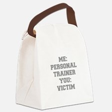 ME-PERSONAL-TRAINER-FRESH-GRAY Canvas Lunch Bag