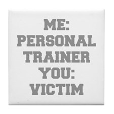 ME-PERSONAL-TRAINER-FRESH-GRAY Tile Coaster