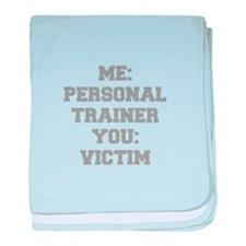 ME-PERSONAL-TRAINER-FRESH-GRAY baby blanket