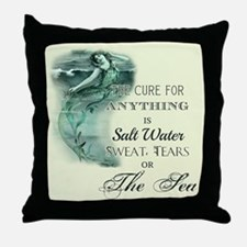 The Mermaids Cure Throw Pillow