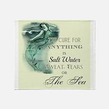 The Mermaids Cure Throw Blanket