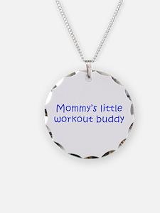 MOMMYS-LITTLE-WORKOUT-BUDDY-kri-blue Necklace