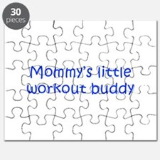 MOMMYS-LITTLE-WORKOUT-BUDDY-kri-blue Puzzle