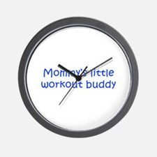 MOMMYS-LITTLE-WORKOUT-BUDDY-kri-blue Wall Clock