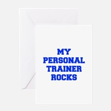 my-personal-trainer-rocks-FRESH-BLUE Greeting Card