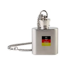 Keep Calm and Dring Like A German Flask Necklace