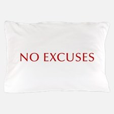 NO-EXCUSES-BOD-RED Pillow Case