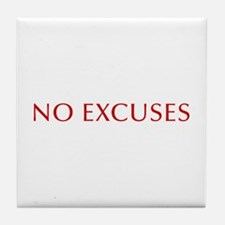 NO-EXCUSES-BOD-RED Tile Coaster