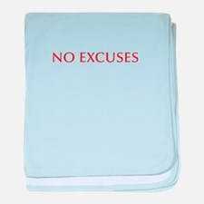 NO-EXCUSES-BOD-RED baby blanket