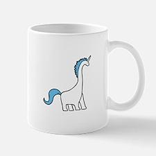 Cute Dinocorn (Unicorn Brachiosaurus) Mugs