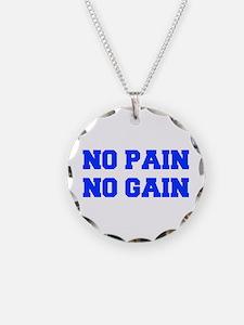 NO-PAIN-NO-GAIN-FRESH-BLUE Necklace