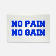 NO-PAIN-NO-GAIN-FRESH-BLUE Magnets