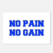 NO-PAIN-NO-GAIN-FRESH-BLUE Postcards (Package of 8