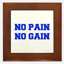 NO-PAIN-NO-GAIN-FRESH-BLUE Framed Tile