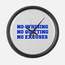NO-WHINING-FRESH-BLUE Large Wall Clock