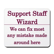 Support Staff Wizard Mousepad