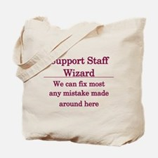 Support Staff Wizard Tote Bag