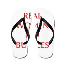 REAL-WOMEN-DO-BURPEES-OPT-RED Flip Flops